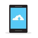 Phone Cloud Upload Stock Images