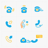 Phone colorful icons, vector illustration Royalty Free Stock Photo