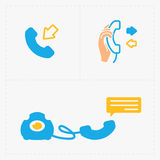 Phone colorful icons, vector illustration. Stock Photos
