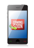 Phone Coming soon message illustration design Royalty Free Stock Photography