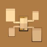 Phone communication Royalty Free Stock Images