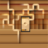 Phone communication Stock Photography