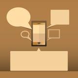Phone communication Stock Photos