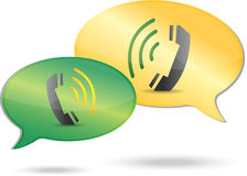 Phone communication concept illustration Stock Photography