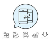 Phone Communication line icon. Incoming call. Stock Image