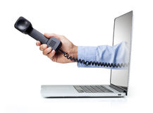 Phone Computer Contact Business royalty free stock photography