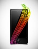 Phone concept: abstract lines Royalty Free Stock Image