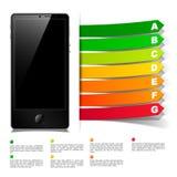 Phone concept: realistic design elements Stock Photo