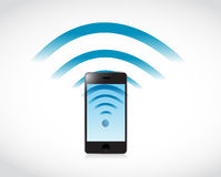 Phone connection wifi illustration design Stock Images
