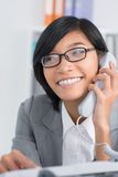 Phone consultant Stock Photo