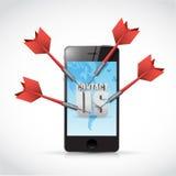 Phone contact us target darts illustration design Royalty Free Stock Photos