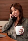 Phone Conversation Royalty Free Stock Photos