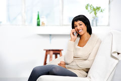 Phone conversation Royalty Free Stock Photography