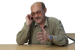 Phone conversation stock photography