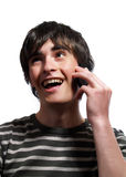 Phone conversation Stock Image