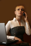 Phone conversation Royalty Free Stock Image