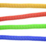 Phone Cord. A close up shot of a phone cord Royalty Free Stock Photos