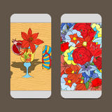 Phone cover back. Mobile phone cover back for your design. Vector illustration Royalty Free Stock Photo