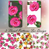 Phone cover with roses Royalty Free Stock Photo