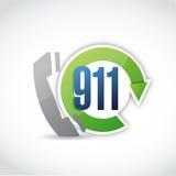 911 phone cycle illustration design Royalty Free Stock Photo