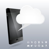 Phone 3D Cloud Design Elements Royalty Free Stock Photos