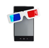 Phone 3d glasses Royalty Free Stock Images