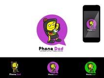 Phone Dad Logo illustration Stock Photos