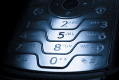 Phone in dark Stock Photos