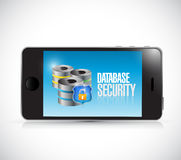 Phone database security illustration design Royalty Free Stock Photo