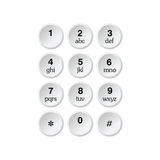 Phone dialer grey art  Stock Images