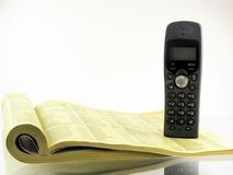 Phone directory. Directory and telephone Royalty Free Stock Photo