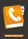 Phone directory. Illustration of phone directory over grey background Royalty Free Stock Photography