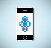 Phone Document Icon, Vector Royalty Free Stock Images