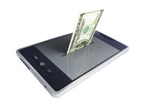 Phone dollar. On a white background Stock Photo