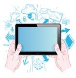 Phone doodle set. Hand-drawn vector illustration Royalty Free Stock Photos