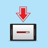 Phone Download Loading Royalty Free Stock Photography