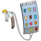 Phone Draining Energy From Man Stock Photos