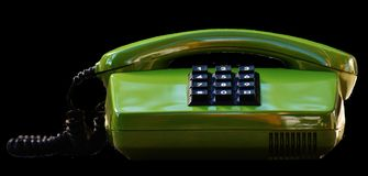 Phone, Eighties, Old, Green, Keys Royalty Free Stock Photography