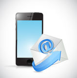 Phone and email envelope illustration design Stock Photography