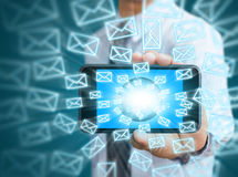 Phone and email icons. Touch screen mobile phone and email icons Royalty Free Stock Photo