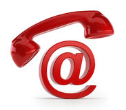 Phone email. Isolated white background