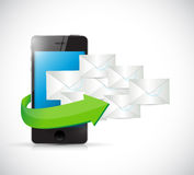 Phone and emails illustration design Stock Photo