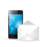 Phone and envelope illustration design Royalty Free Stock Photography