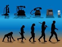Phone evolution Stock Photo