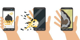 Phone explosion Stock Photos