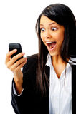 Phone expression face Stock Photos