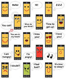Phone face emotions Stock Images