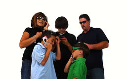 Phone Family Stock Images