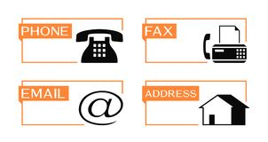 Phone, fax, email and address banner Royalty Free Stock Image
