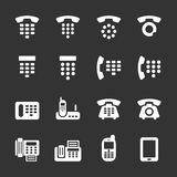 Phone and fax icon set, vector eps10 Stock Images